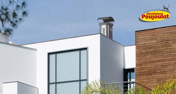 choisir les chemin es poujoulat pour votre sortie de toit. Black Bedroom Furniture Sets. Home Design Ideas